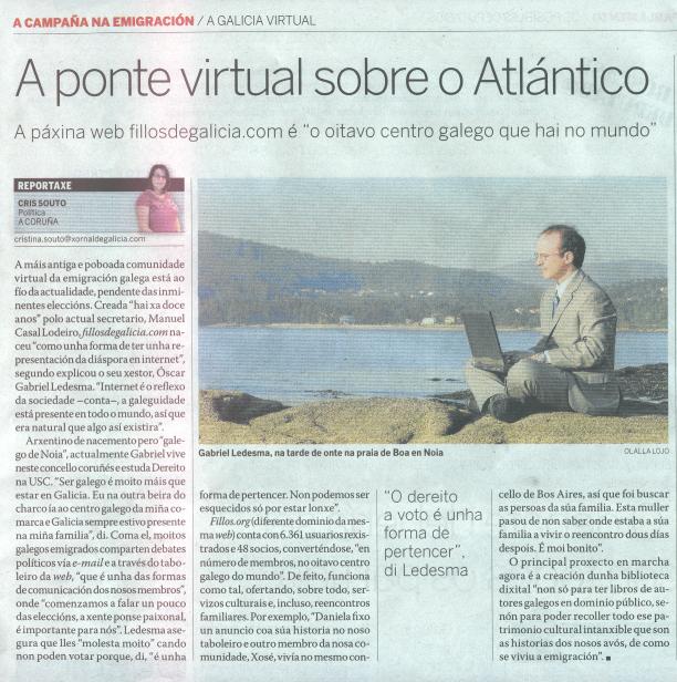 Fillos no Xornal de Galicia