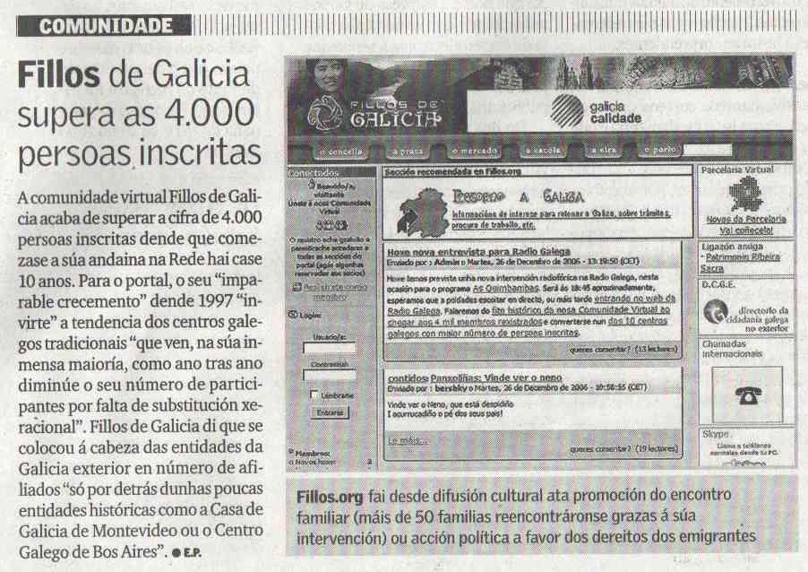 Fillos de Galicia en Galicia Hoxe
