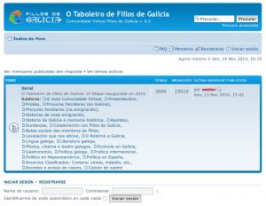Captura no novo Taboleiro de Fillos de Galicia