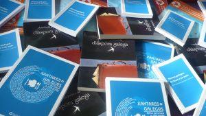 Exemplares dos libros publicados por Fillos de Galicia